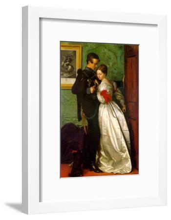 The Black Brunswicker-John Everett Millais-Framed Art Print