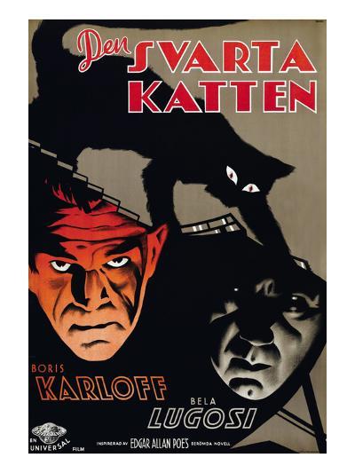 The Black Cat, (aka Den Svarta Katten), Boris Karloff, Bela Lugosi, 1934--Photo