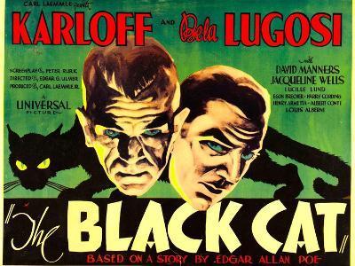 The Black Cat, Boris Karloff, Bela Lugosi, 1934--Art Print