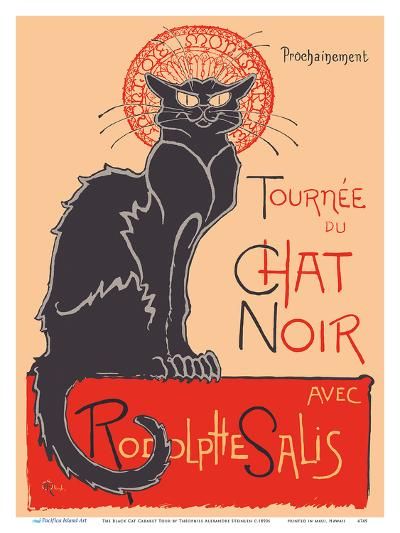 The Black Cat Cabaret Tour (Tourn?du Chat Noir) - with Rodolphe Salis-Th?hile Alexandre Steinlen-Art Print