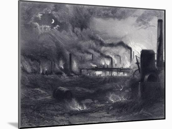 The Black Country Near Bilston, Staffordshire, 1869-G Greatbach-Mounted Giclee Print