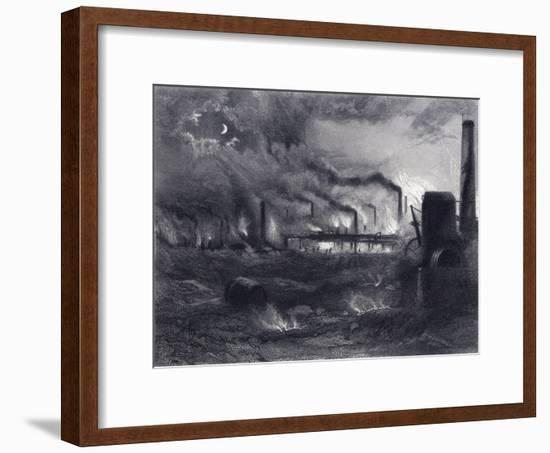 The Black Country Near Bilston, Staffordshire, 1869-G Greatbach-Framed Giclee Print