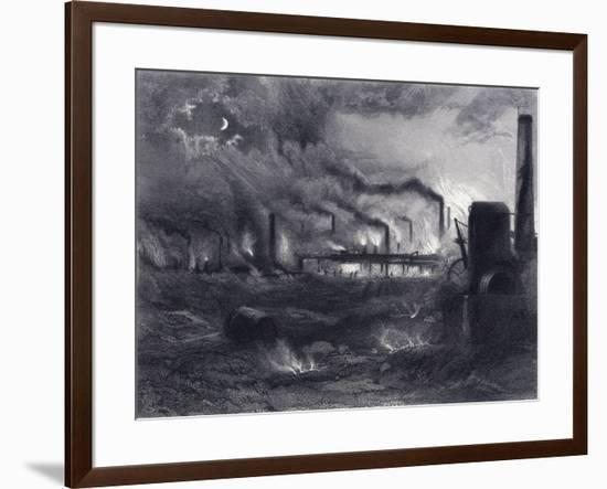 The Black Country Near Bilston, Staffordshire, 1869-G Greatbach-Framed Giclee Print