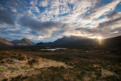 The Black Cuillin at Sligachan, Isle of Skye Scotland UK-Tracey Whitefoot-Photographic Print