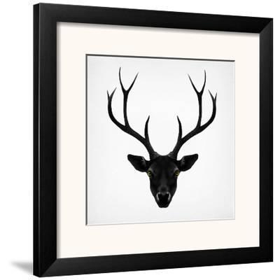 The Black Deer-Ruben Ireland-Framed Art Print