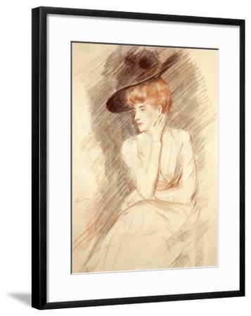 The Black Hat II-Paul Cesar Helleu-Framed Premium Giclee Print
