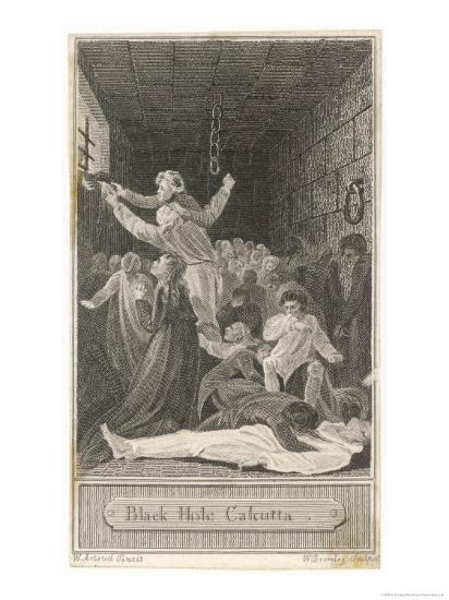 The Black Hole of Calcutta in Which Only 23 of 146 Prisoners are Said to Have Survived-W^ Bromley-Giclee Print
