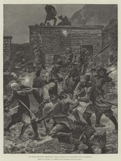 The Black Mountain Expedition, Ghazi Attack on an Advanced Post at Ghazikot-Richard Caton Woodville II-Giclee Print