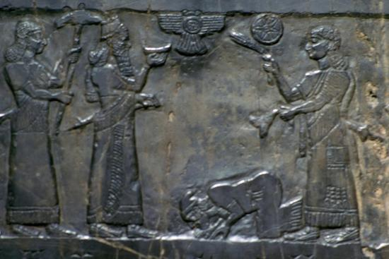 The Black Obelisk of Shalmaneser III, Neo-Assyrian, c858-c824 BC. Artist: Unknown-Unknown-Giclee Print