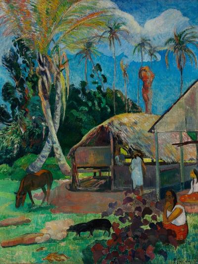 The Black Pigs-Paul Gauguin-Giclee Print