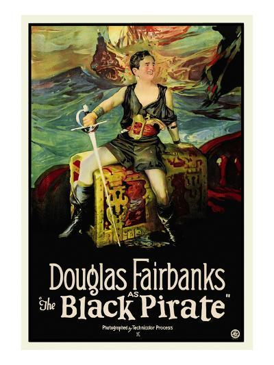 The Black Pirate--Art Print