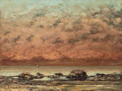 The Black Rocks at Trouville, 1865- 66-Gustave Courbet-Giclee Print