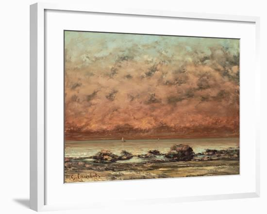 The Black Rocks at Trouville, 1865- 66-Gustave Courbet-Framed Giclee Print