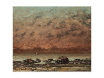 The Black Rocks at Trouville, 1865-66-Gustave Courbet-Giclee Print