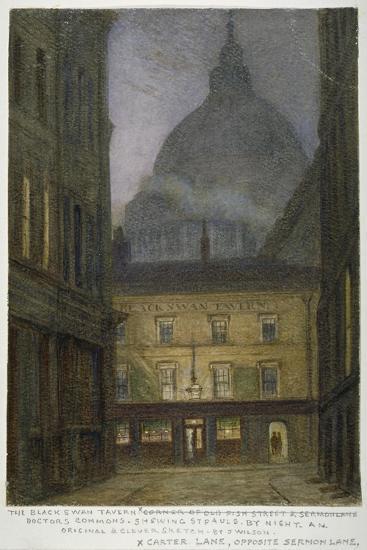 The Black Swan Tavern in Carter Lane, City of London, 1870-JT Wilson-Giclee Print