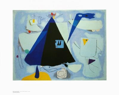 The Black Tent-Willi Baumeister-Art Print