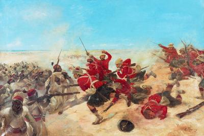 The Black Watch at the Battle of Tel-El-Kebir on the 13th September, 1882-Henri-Louis Dupray-Giclee Print