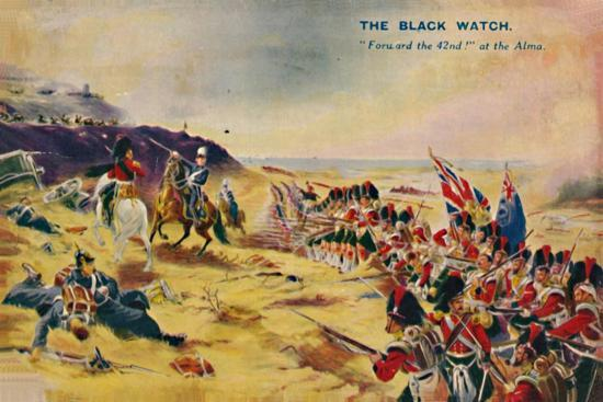 'The Black Watch. Forward the 42nd! at the Alma', 1854, (1939)-Unknown-Giclee Print