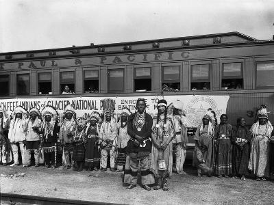 The Blackfeet Indians from Glacier National Park--Photographic Print