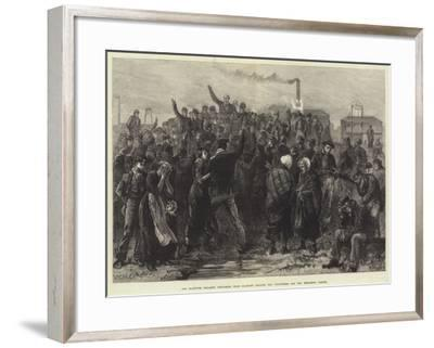 The Blantyre Colliery Explosion, Near Glasgow, Calling for Volunteers for the Exploring Parties-William Heysham Overend-Framed Giclee Print