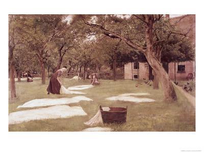 The Bleaching Ground-Max Liebermann-Giclee Print