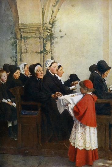 The Blessed Bread, C1879-Pascal Adolphe Jean Dagnan-Bouveret-Giclee Print