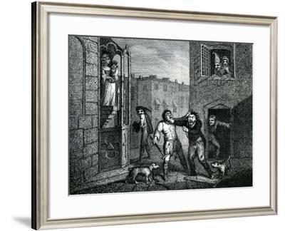 The Blind Beggars Hats 'The Wit's Magazine' 1784-Samuel Collings-Framed Giclee Print