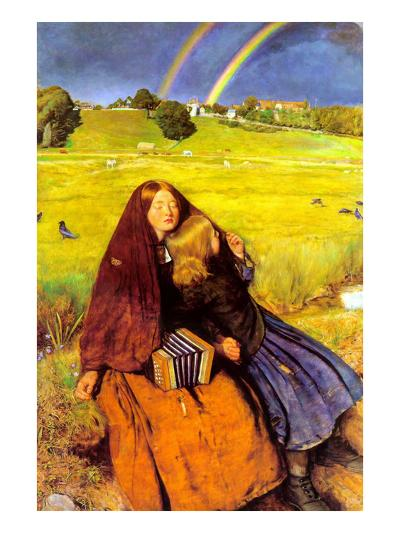 The Blind Girl-John Everett Millais-Art Print