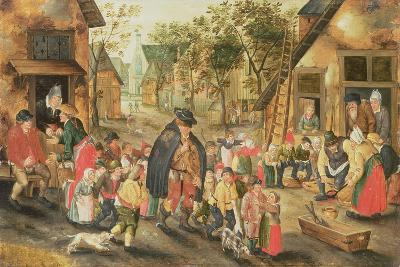The Blind Hurdy-Gurdy Player-Pieter Brueghel the Younger-Giclee Print