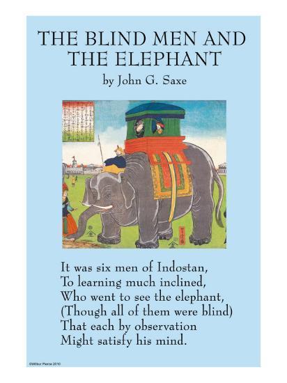 The Blind Men & the Elephant--Art Print