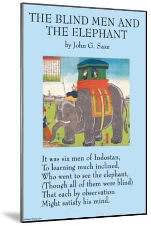 The Blind Men & the Elephant--Mounted Art Print