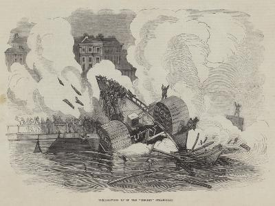 The Blowing Up of the Cricket Steam-Boat--Giclee Print