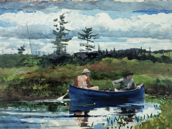 The Blue Boat, 1892-Winslow Homer-Premium Giclee Print
