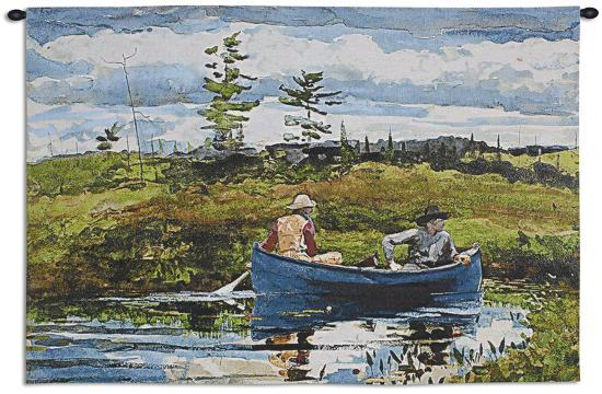 The Blue Boat-Winslow Homer-Wall Tapestry