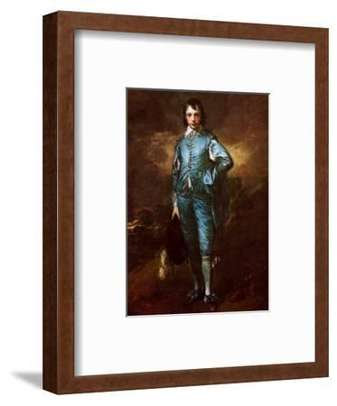 The Blue Boy-Thomas Gainsborough-Framed Art Print