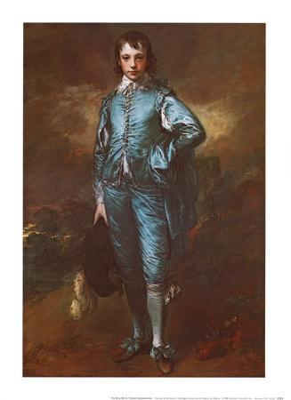 The Blue Boy by English Thomas Gainsborough Children Repro on Canvas or Paper