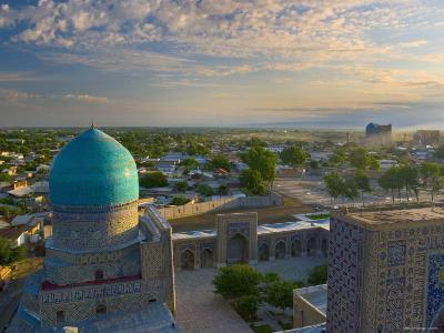 The Blue Domes of the Registan, Samarkand, Uzbekistan-Michele Falzone-Photographic Print