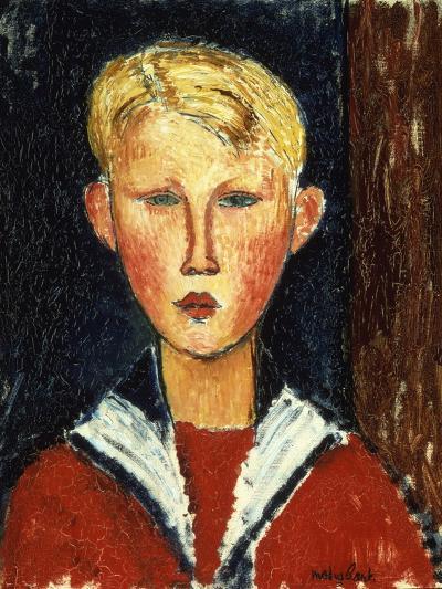 The Blue-Eyed Boy, 1916-Amedeo Modigliani-Giclee Print