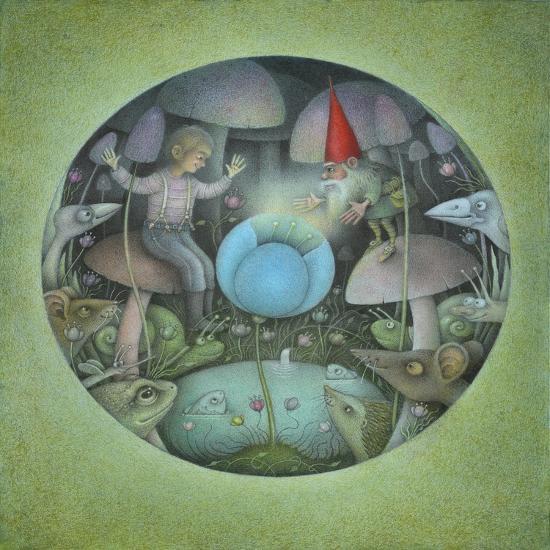 The Blue Flower-Wayne Anderson-Giclee Print