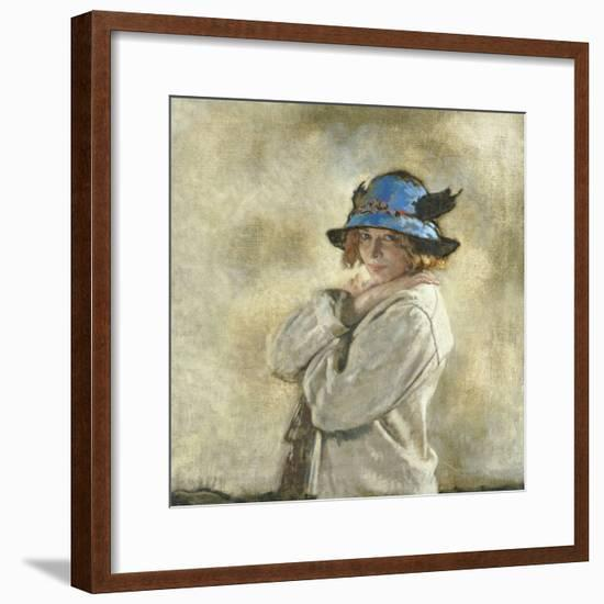 The Blue Hat-Sir William Orpen-Framed Giclee Print
