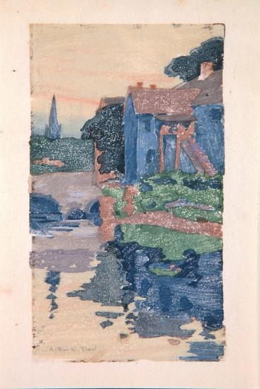 The Blue House-Arthur Wesley Dow-Giclee Print