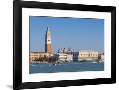 The blue lagoon frames the historical Piazza San Marco, Venice, UNESCO World Heritage Site, Veneto,-Roberto Moiola-Framed Photographic Print