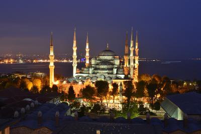 The Blue Mosque, at Dusk-Raul Touzon-Photographic Print