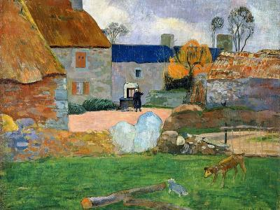 The Blue Roof or Pouldu Farm, 1890-Paul Gauguin-Giclee Print
