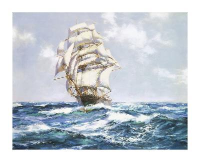The Blue Seas - The 'Eliza Bars's'-Montague Dawson-Premium Giclee Print