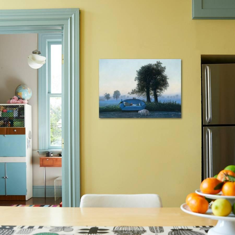 The Blue Sofa Art Print by Michael Sowa   Art.com