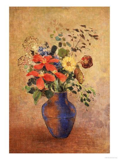 The Blue Vase-Odilon Redon-Giclee Print
