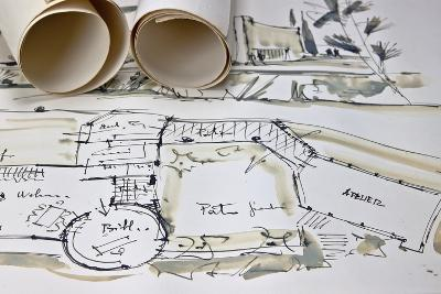 The Blueprint of a House-Giovanna - ricordi fotografici-Photographic Print