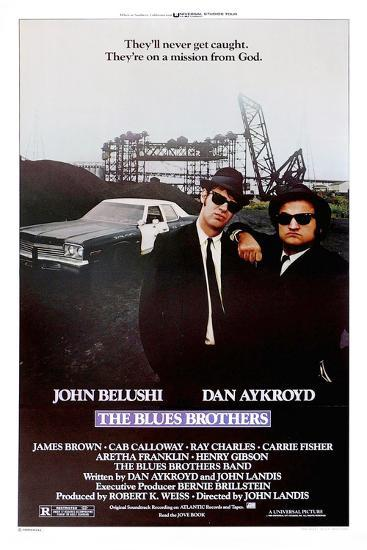 THE BLUES BROTHERS, 1980 directed by JOHN LANDIS John Belushi and Dan Aykroyd (photo)--Photo