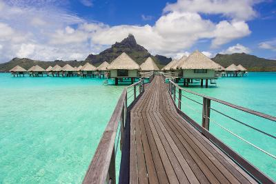 The Boardwalk to the Over-Water Bungalows at the Le Meridien Resort-Mike Theiss-Photographic Print